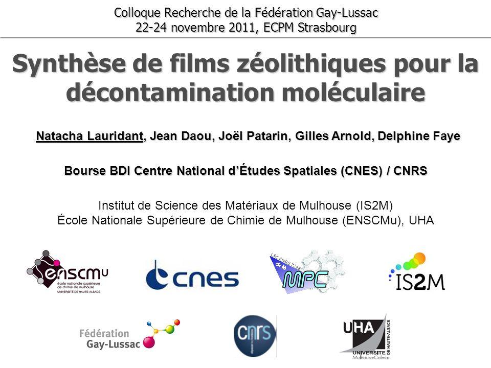 Synthèse de films zéolithiques pour la décontamination moléculaire