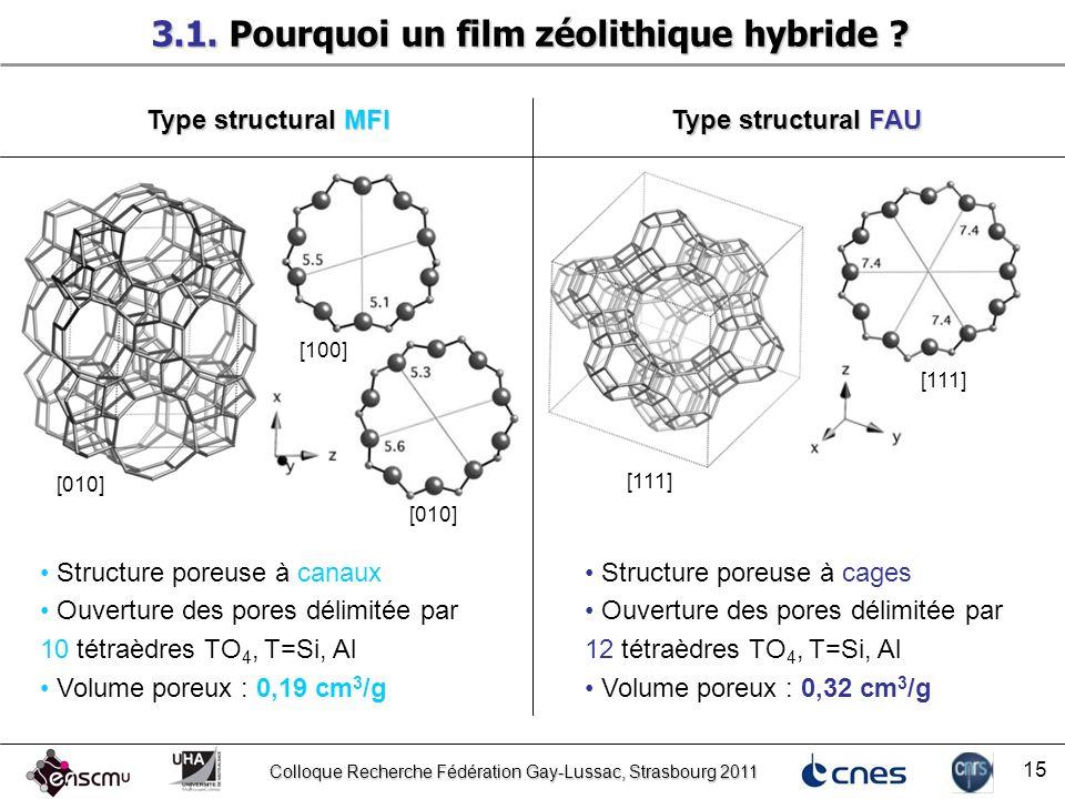 3.1. Pourquoi un film zéolithique hybride
