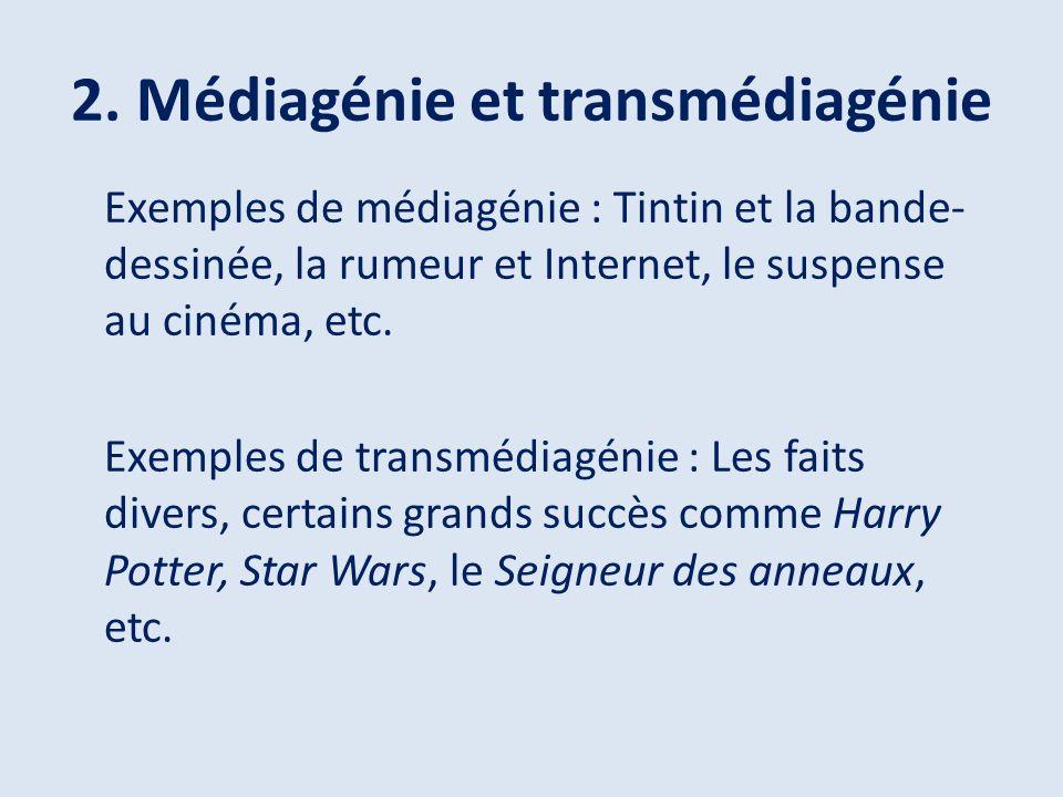2. Médiagénie et transmédiagénie