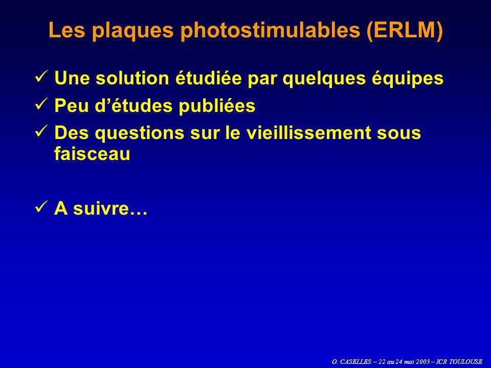 Les plaques photostimulables (ERLM)