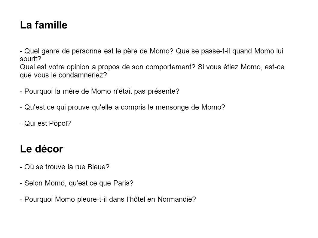 La famille - Quel genre de personne est le père de Momo Que se passe-t-il quand Momo lui sourit