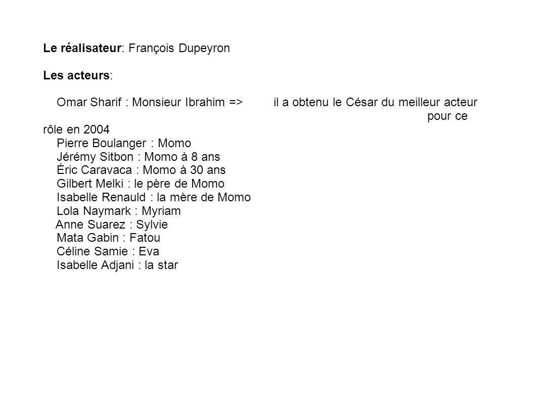Le réalisateur: François Dupeyron