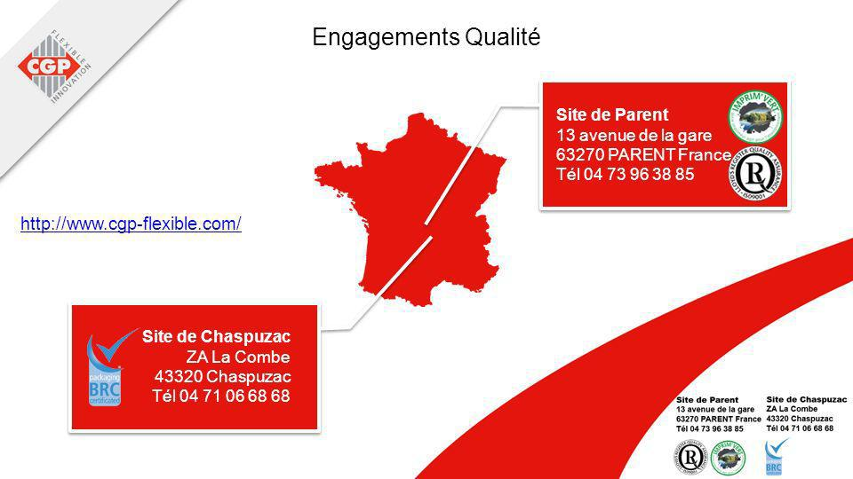 Engagements Qualité http://www.cgp-flexible.com/ Site de Parent