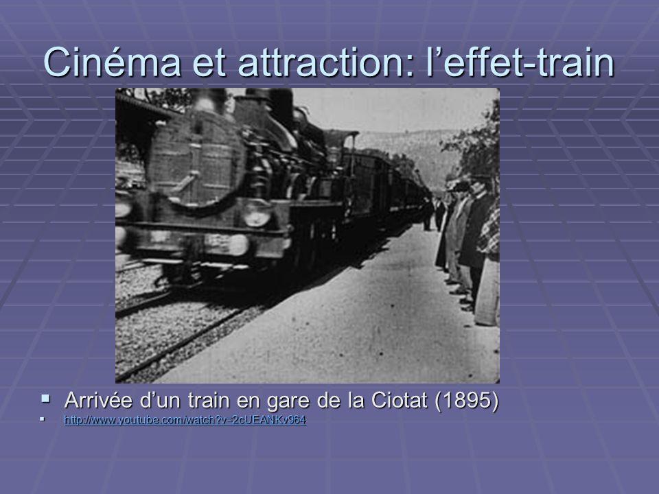 Cinéma et attraction: l'effet-train
