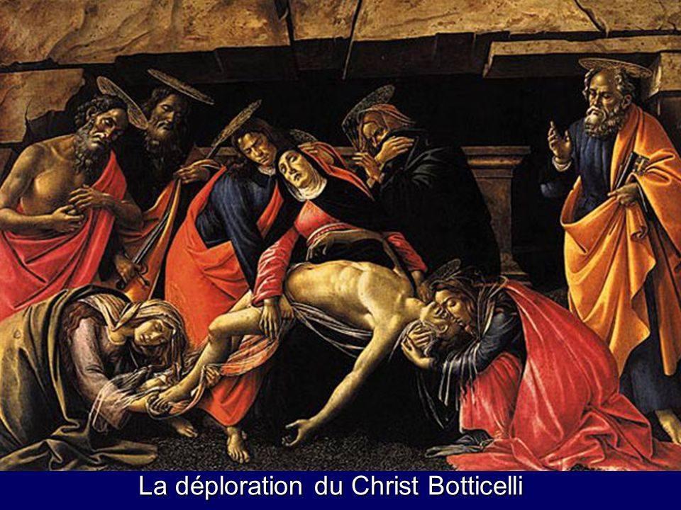 La déploration du Christ Botticelli