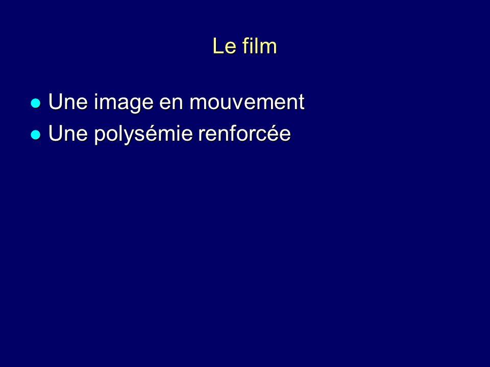 Le film Une image en mouvement Une polysémie renforcée