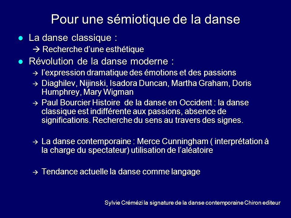 Pour une sémiotique de la danse