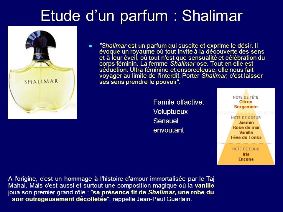 Etude d'un parfum : Shalimar