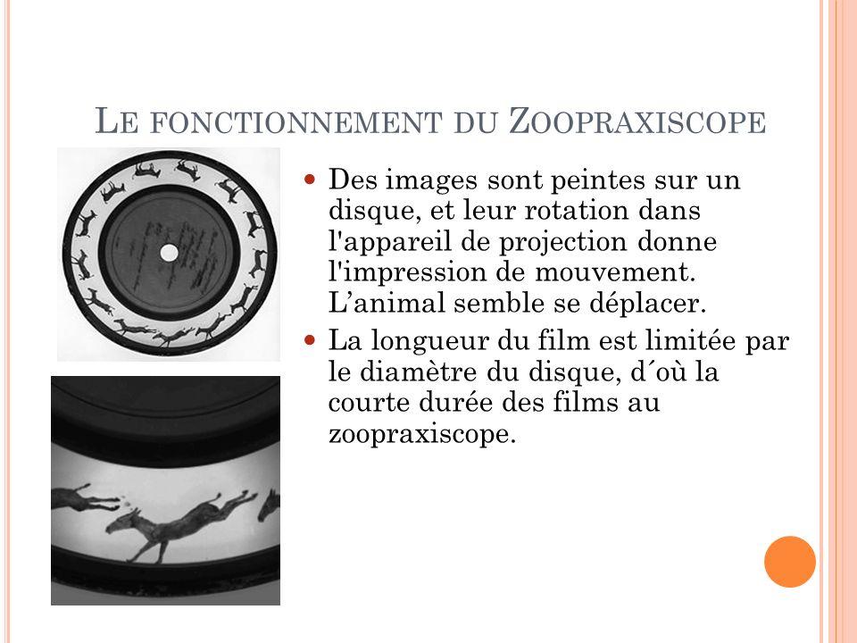 Le fonctionnement du Zoopraxiscope