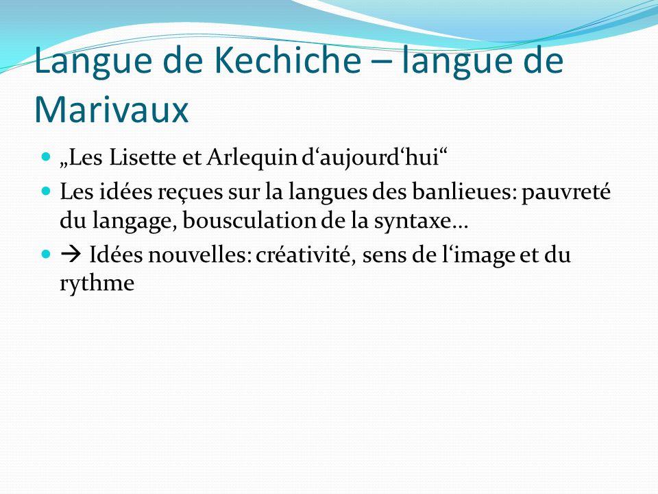 Langue de Kechiche – langue de Marivaux