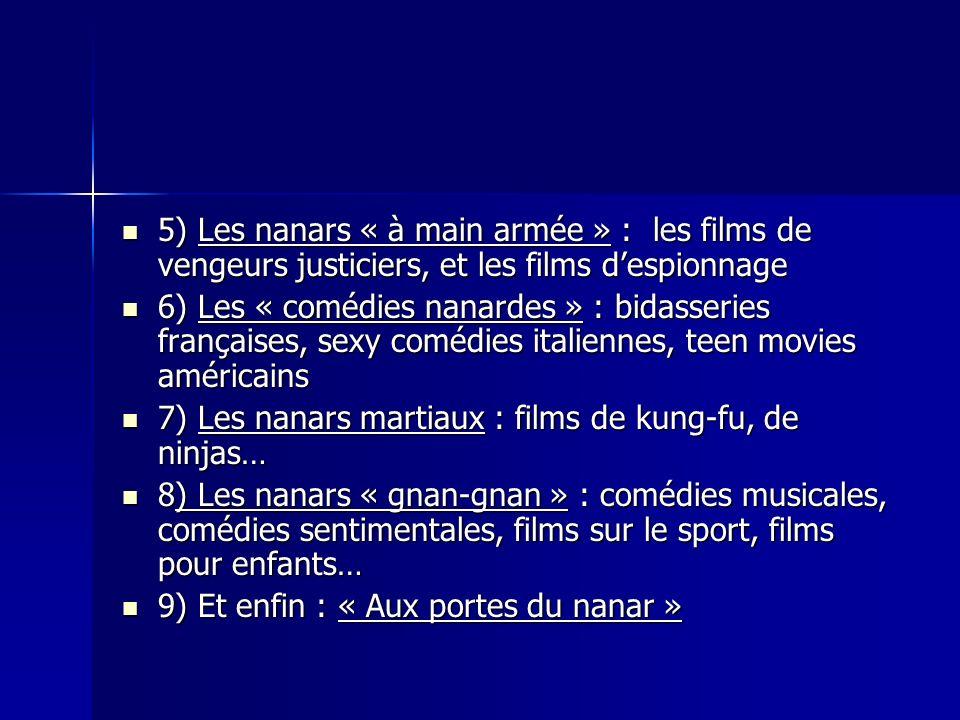 5) Les nanars « à main armée » : les films de vengeurs justiciers, et les films d'espionnage