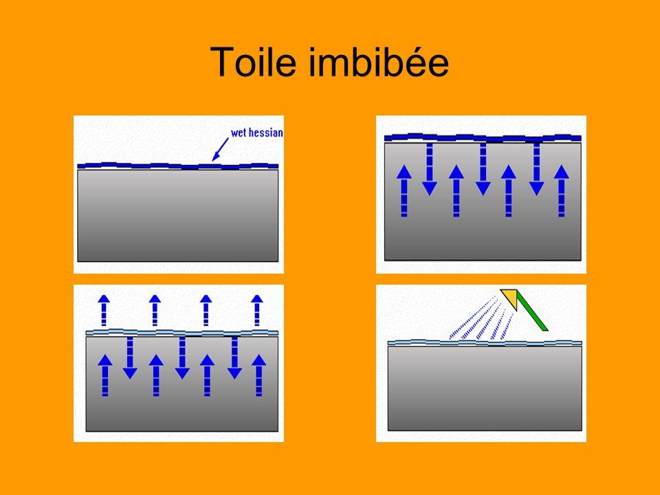 Toile imbibée