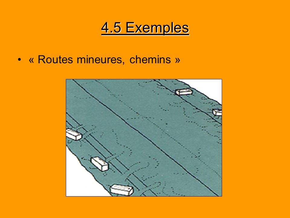 4.5 Exemples « Routes mineures, chemins »