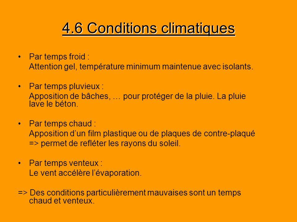 4.6 Conditions climatiques