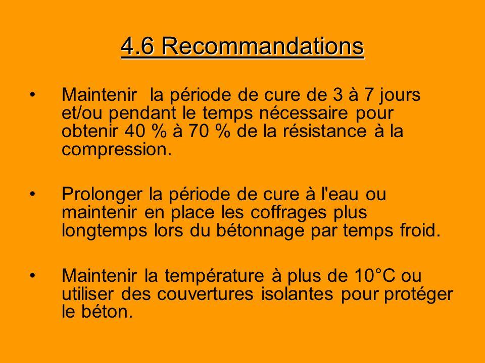 4.6 Recommandations