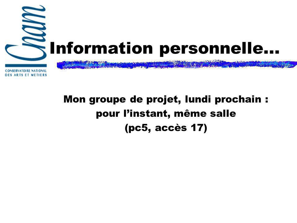Information personnelle...