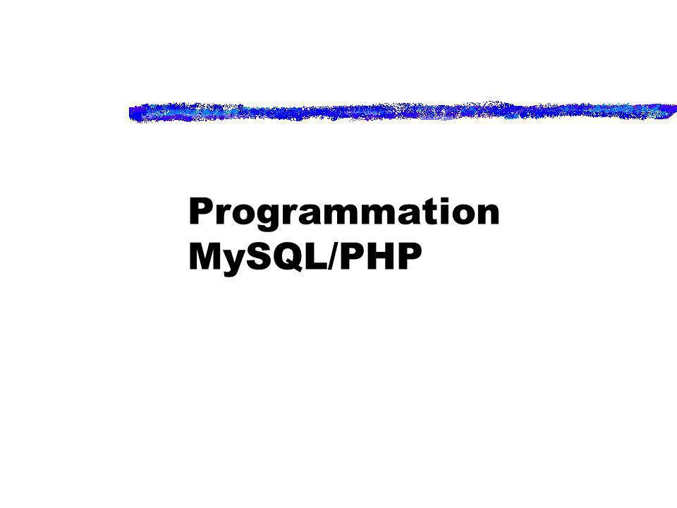 Programmation MySQL/PHP