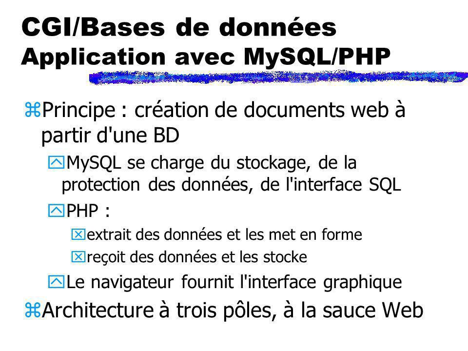 CGI/Bases de données Application avec MySQL/PHP