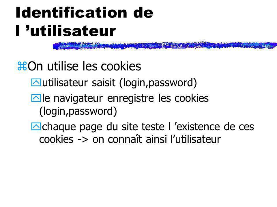 Identification de l 'utilisateur