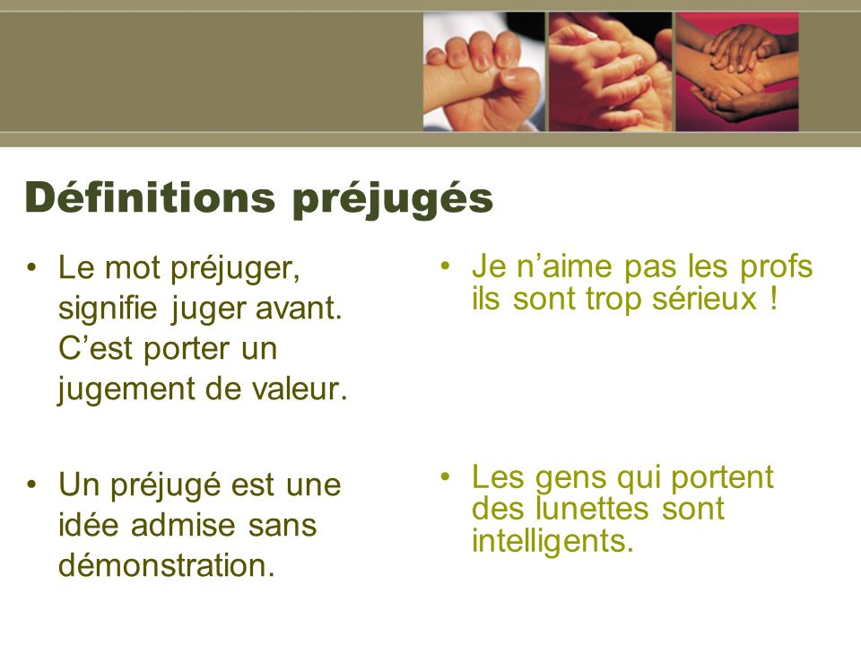 Prejuges et stereotypes ppt t l charger for Portent definition