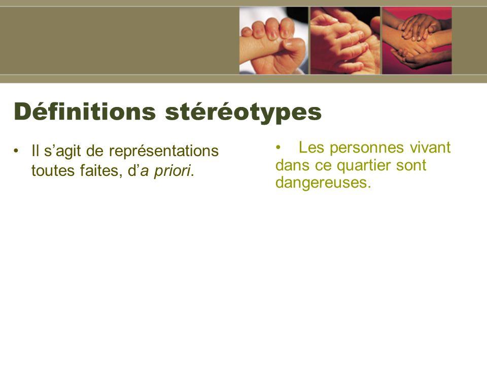 Définitions stéréotypes