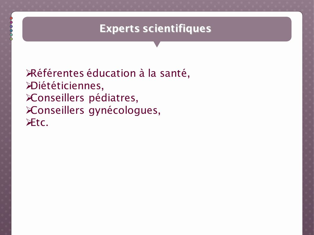 Experts scientifiques