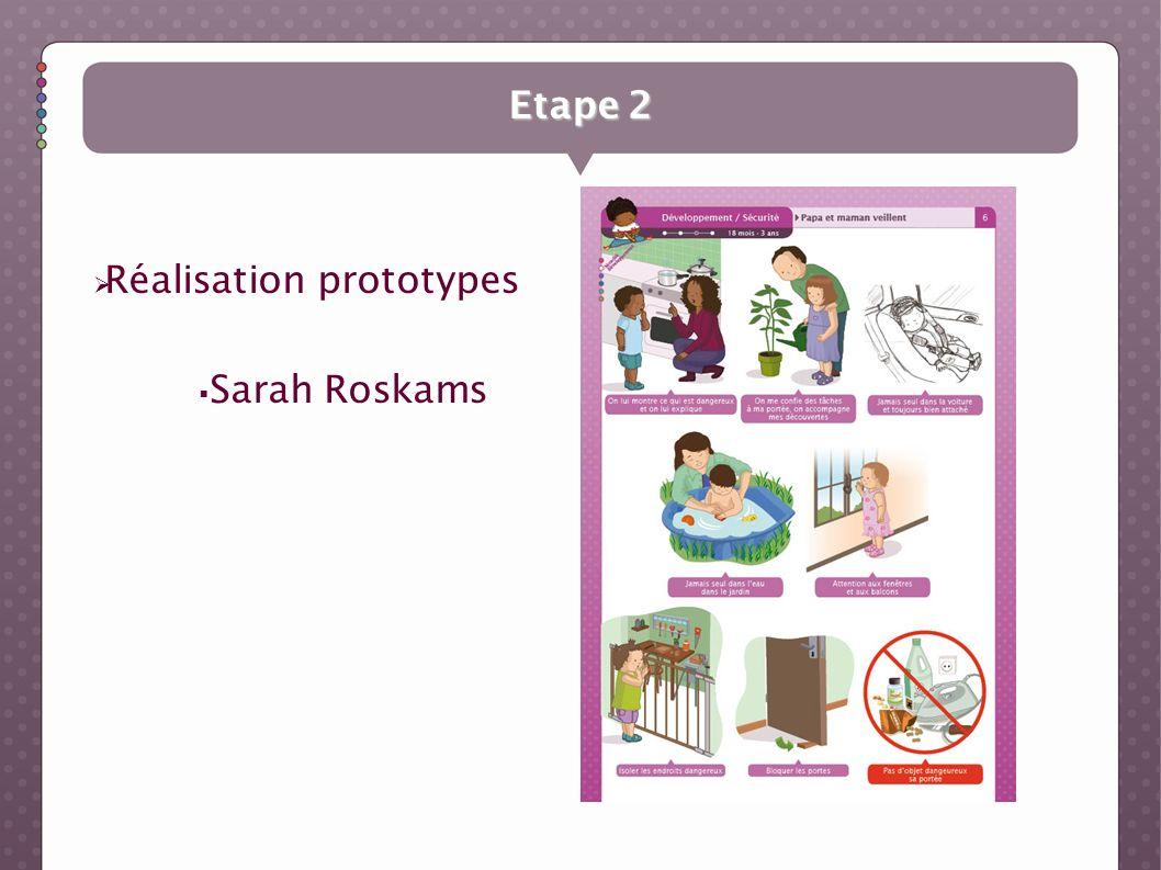 Etape 2 Réalisation prototypes Sarah Roskams