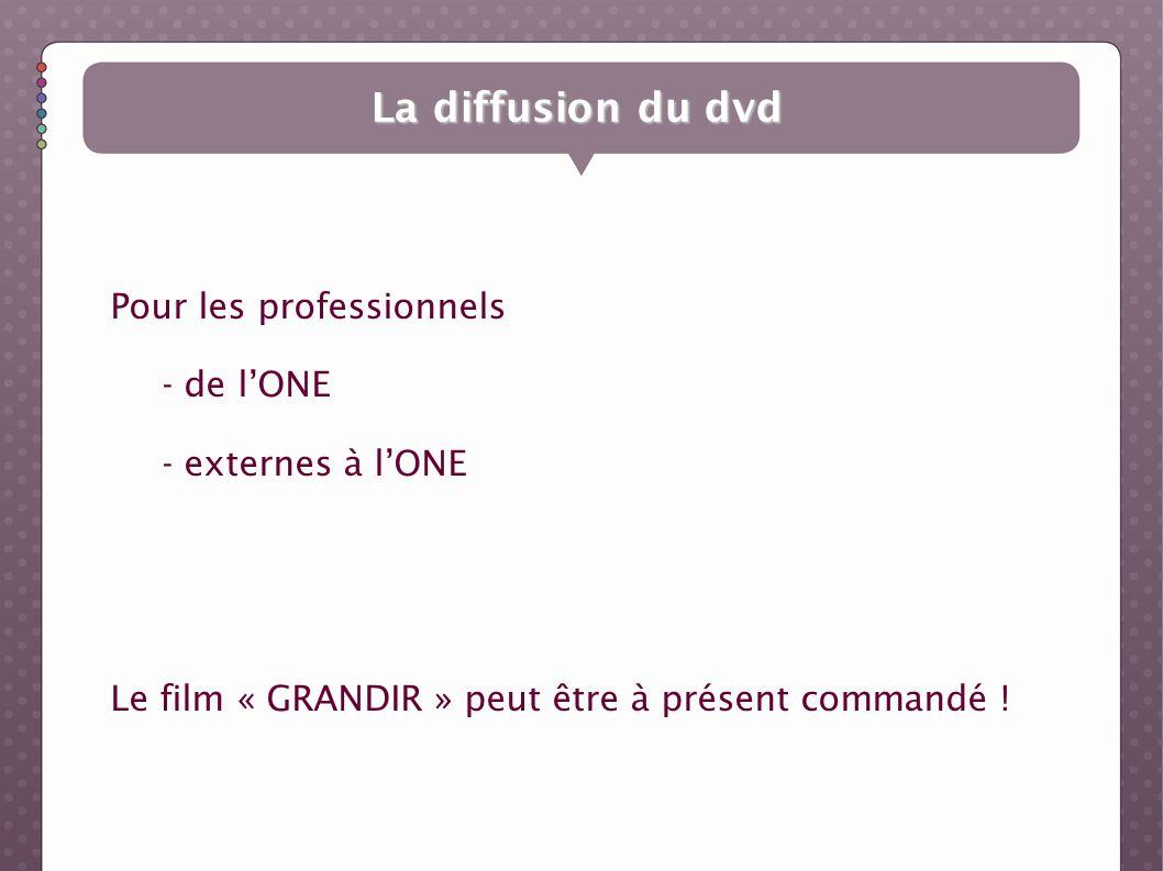 La diffusion du dvd Pour les professionnels - de l'ONE