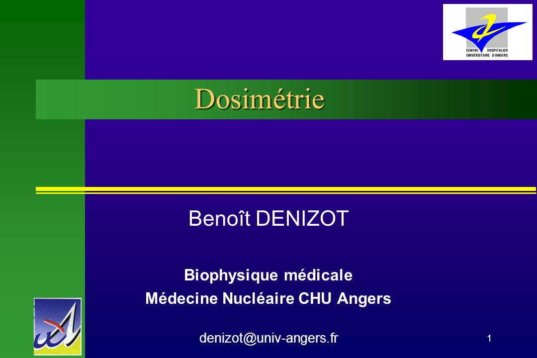 PCEM 2 CHU Angers Biophysique Dosimétrie