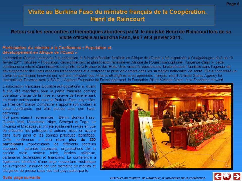 Visite au Burkina Faso du ministre français de la Coopération,