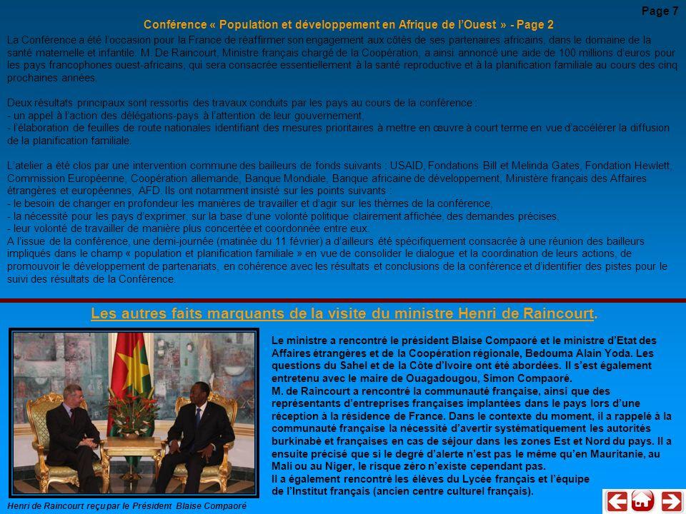 Page 7 Conférence « Population et développement en Afrique de l'Ouest » - Page 2.
