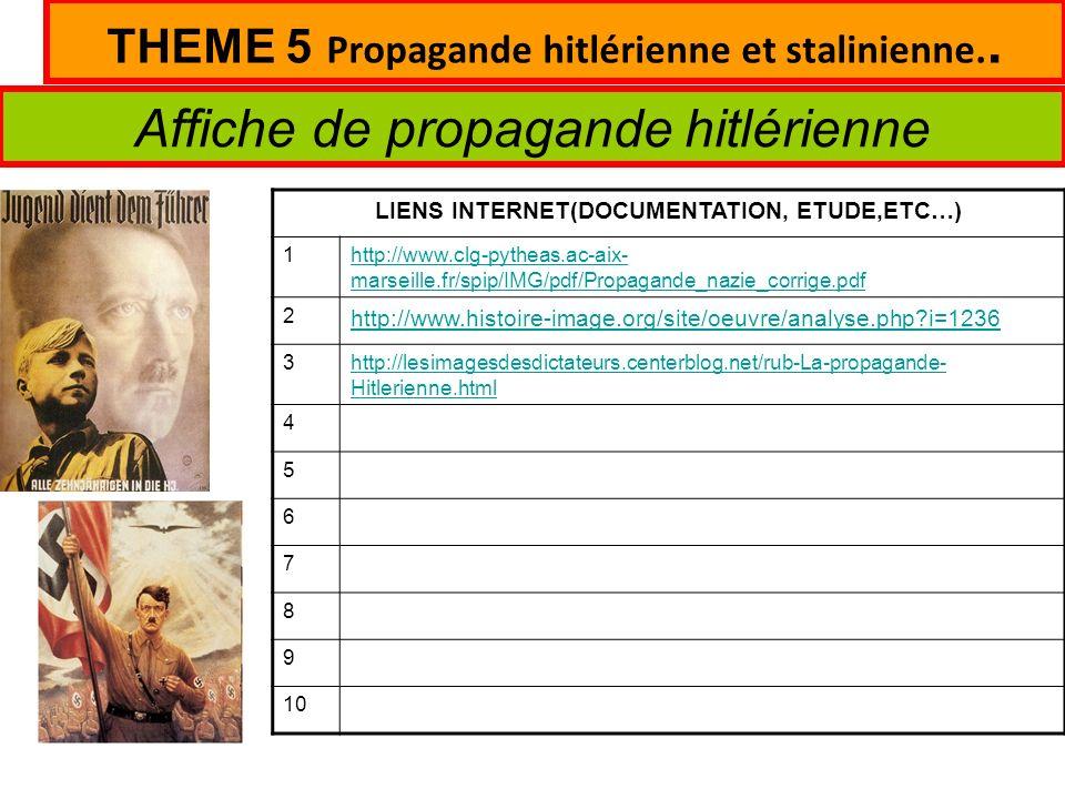 THEME 5 Propagande hitlérienne et stalinienne..