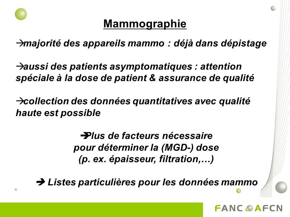 Mammographie majorité des appareils mammo : déjà dans dépistage