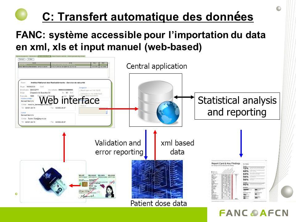 C: Transfert automatique des données