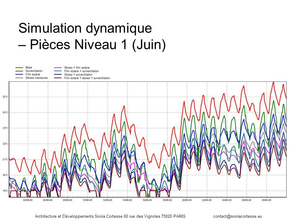 Simulation dynamique – Pièces Niveau 1 (Juin)