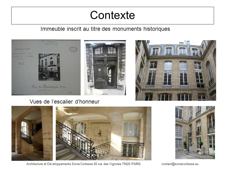 Contexte Immeuble inscrit au titre des monuments historiques