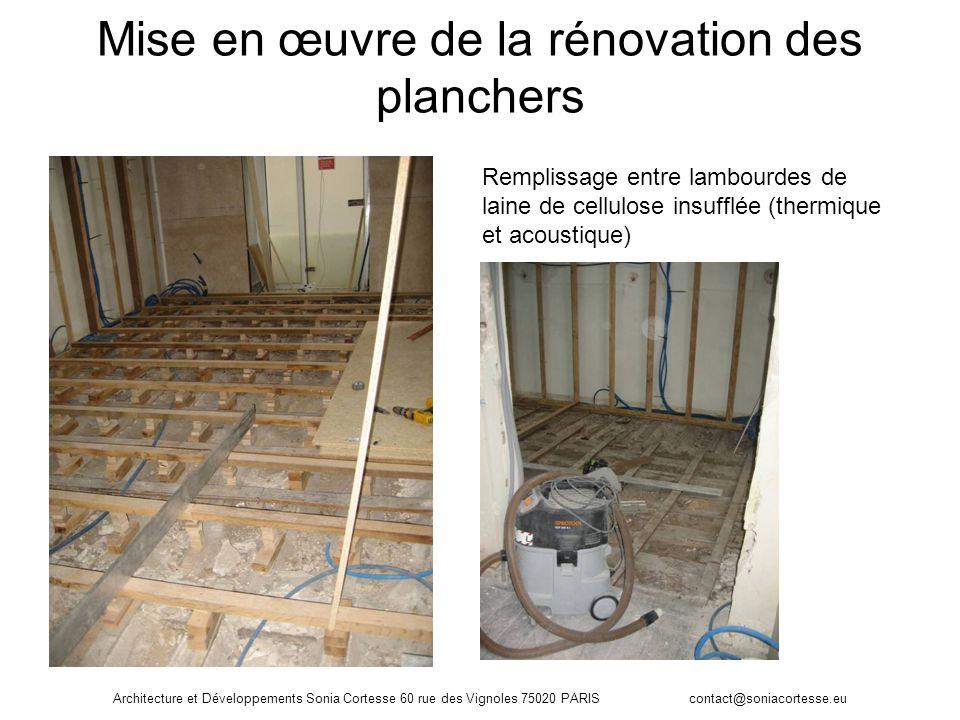 Mise en œuvre de la rénovation des planchers