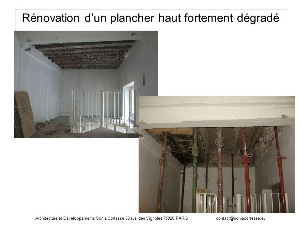 Rénovation d'un plancher haut fortement dégradé
