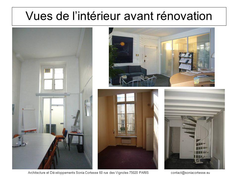 Vues de l'intérieur avant rénovation