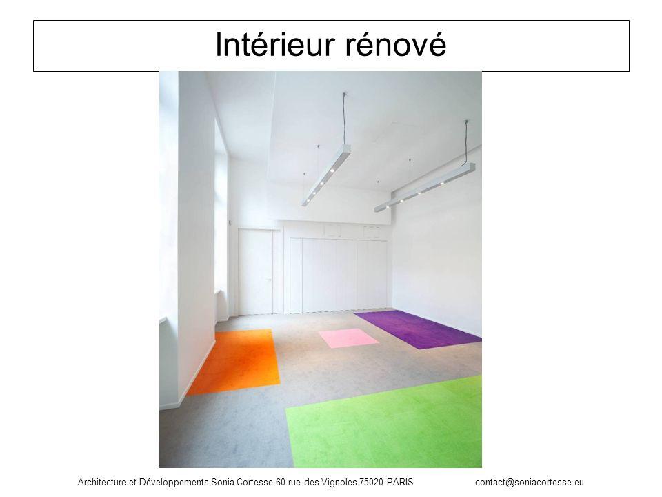 Intérieur rénové Architecture et Développements Sonia Cortesse 60 rue des Vignoles 75020 PARIS contact@soniacortesse.eu.
