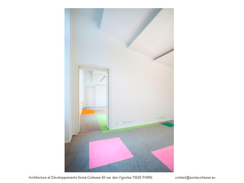 Architecture et Développements Sonia Cortesse 60 rue des Vignoles 75020 PARIS contact@soniacortesse.eu