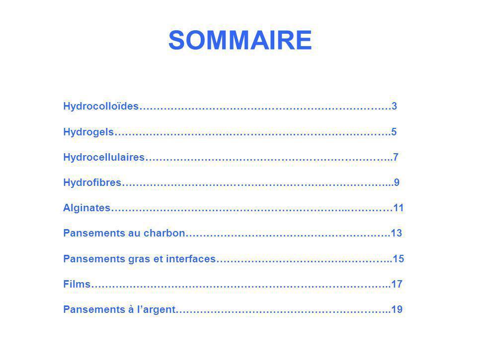 SOMMAIRE Hydrocolloïdes………………………………………………………………3
