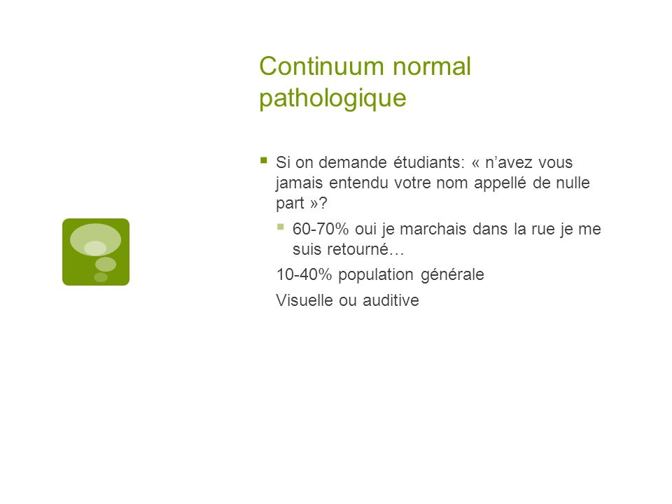 Continuum normal pathologique
