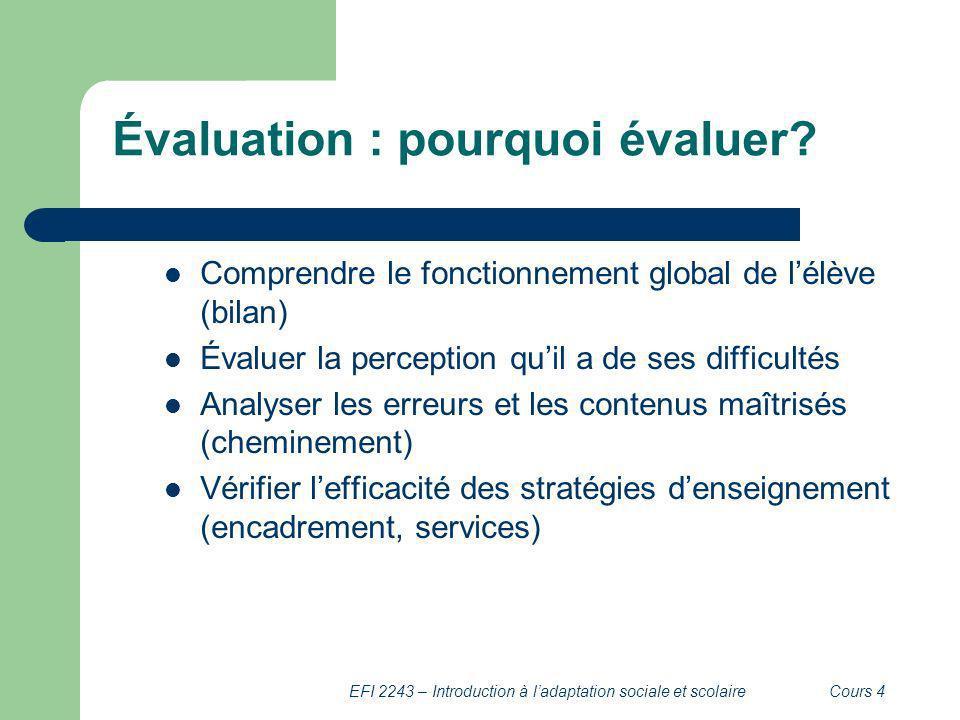 Évaluation : pourquoi évaluer