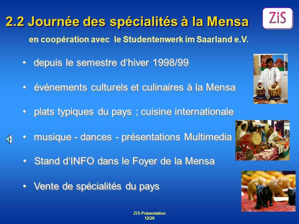 2.2 Journée des spécialités à la Mensa