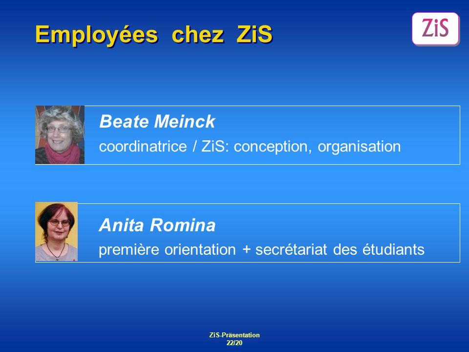 Employées chez ZiS Beate Meinck Anita Romina