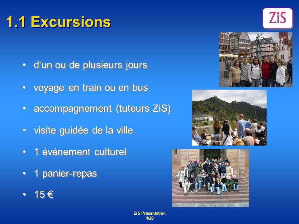 1.1 Excursions d'un ou de plusieurs jours voyage en train ou en bus