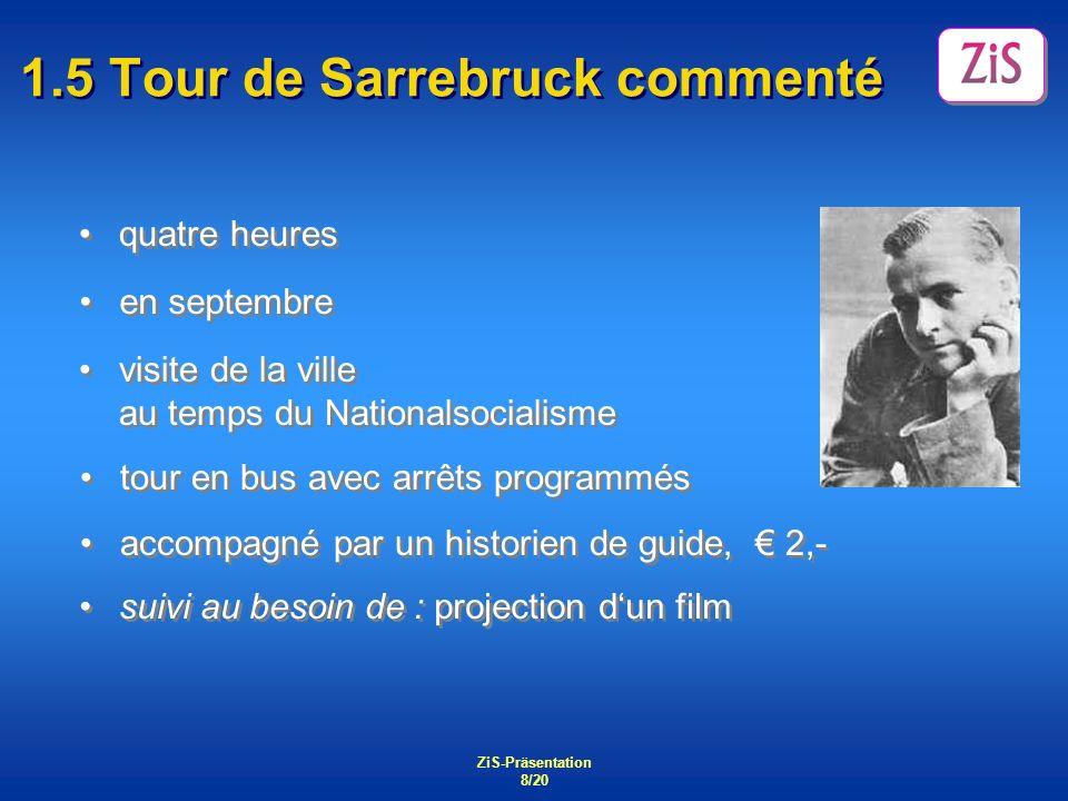 1.5 Tour de Sarrebruck commenté