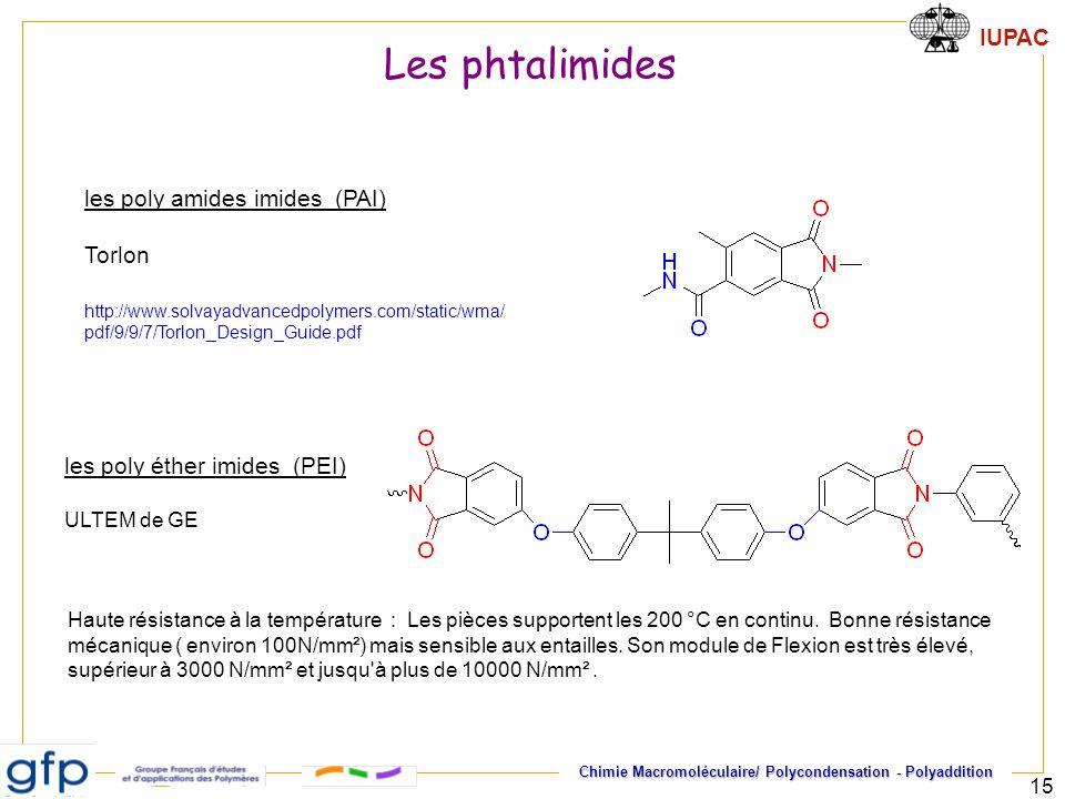 Les phtalimides les poly amides imides (PAI) Torlon