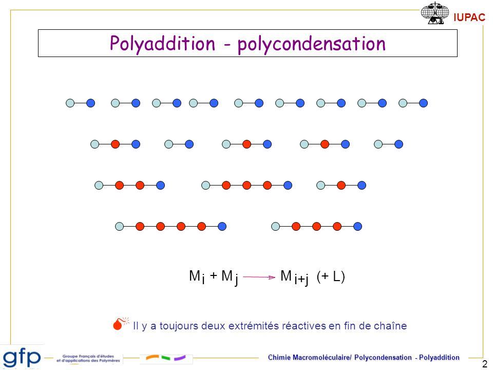 Polyaddition - polycondensation